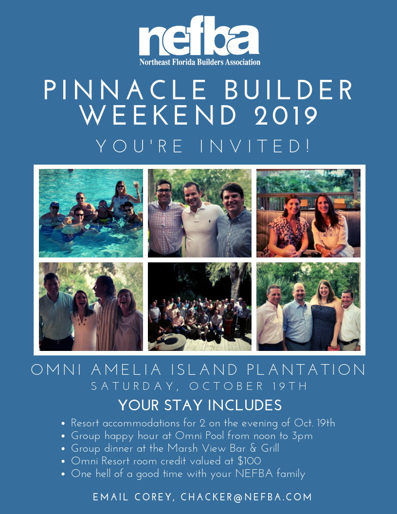 pinnacle builder weekend 2019